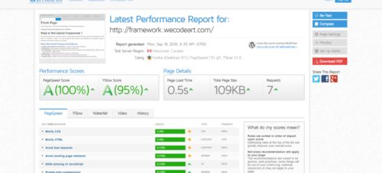 WeCodeArt Update GTMetrics