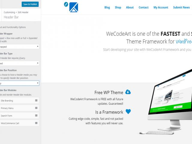 Screenshot WeCodeArt Header