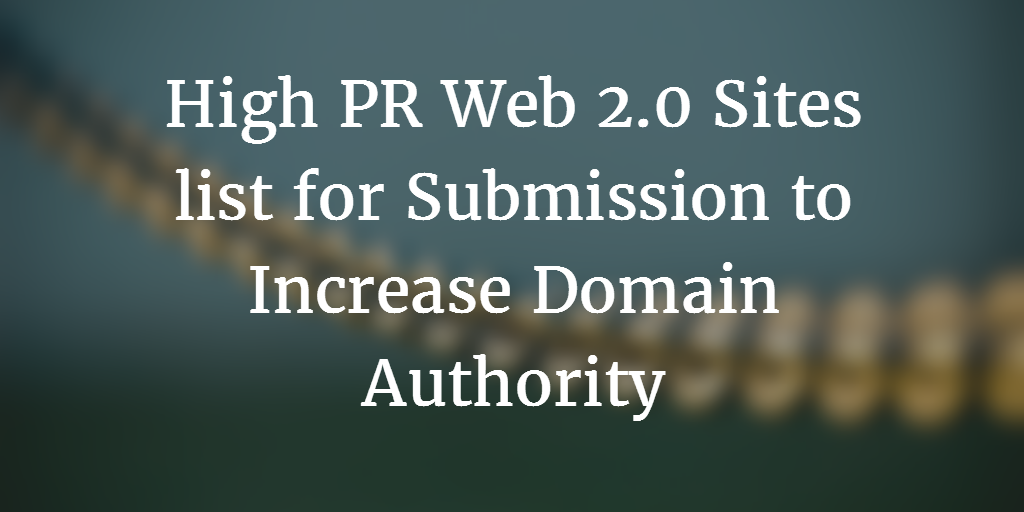What is Web 2 0 Submission and it's Benefits in SEO? - 2019 - WeCodeArt